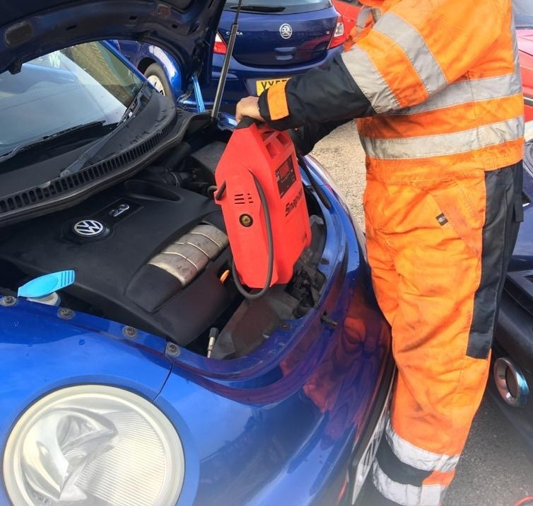 Car Breakdown Jump Start Service Blackpool