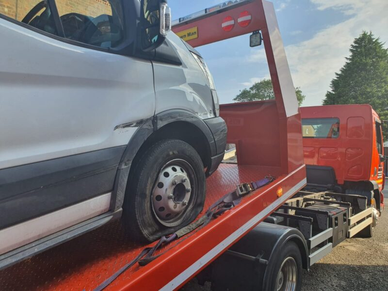 breakdown recovery rescue for vans